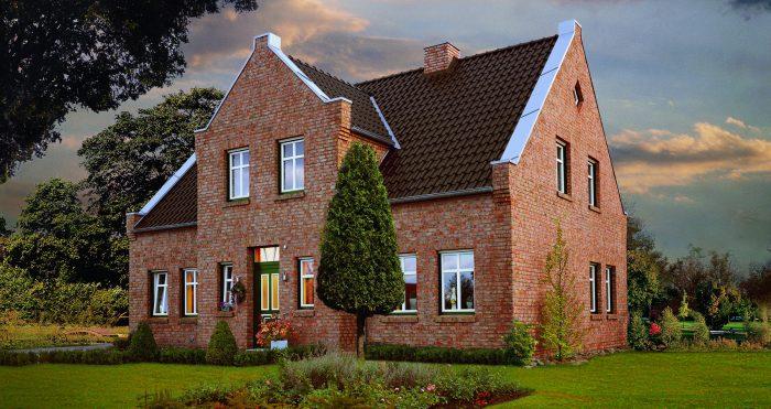 Kuća sa fasnom ciglom