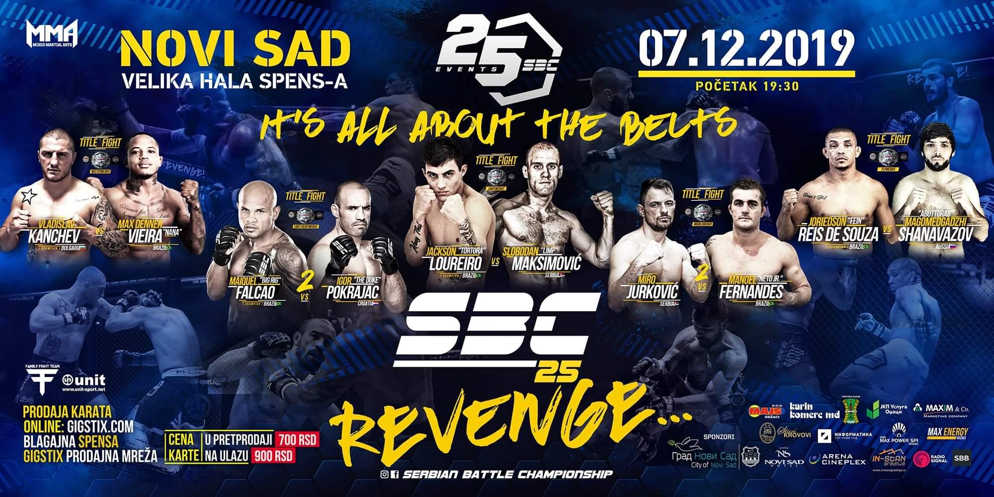 SBC 25 MMA Spektakl