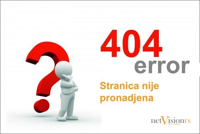 404 stranica nije pronadjena